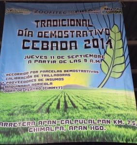 Tradicional Día Demostrativo Cebada 2014 - Apan, Hidalgo | Bionat